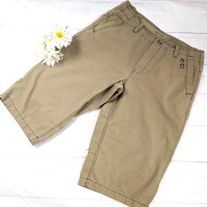 Calvin Klein New York Tan/Khaki Long Cotton Shorts